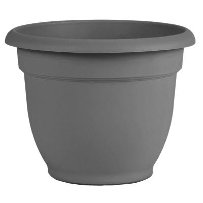 Ariana 8 in. x 7 in. Charcoal Plastic Self Watering Planter