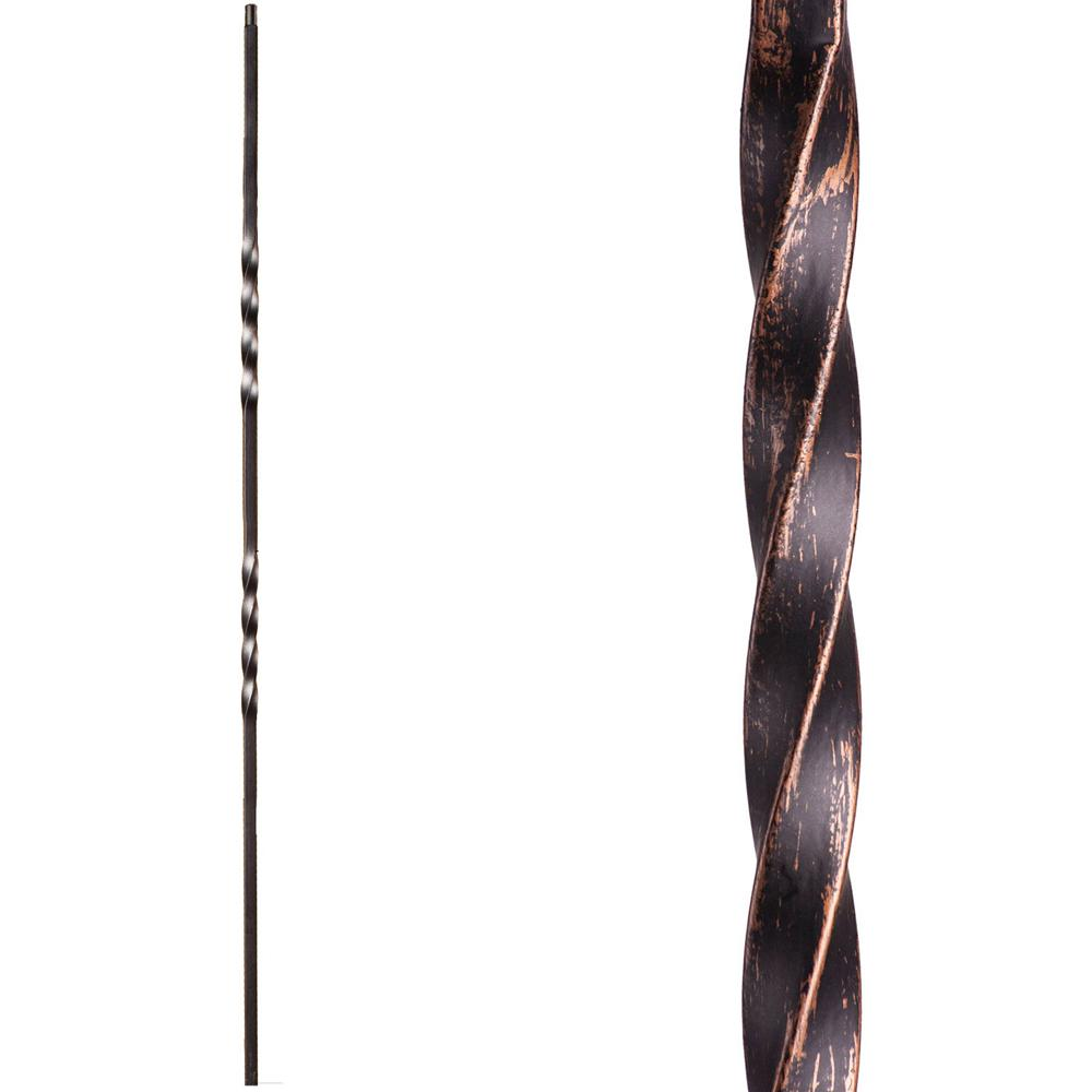 HOLLOW Wrought Iron Oil Rubbed Copper Twist /& Basket Iron Balusters