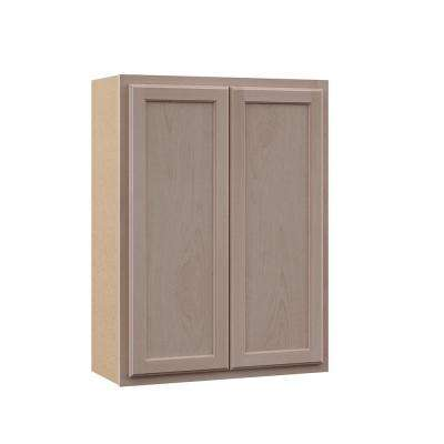 Hampton Assembled 27x36x12 in. Wall Cabinet in Unfinished Beech