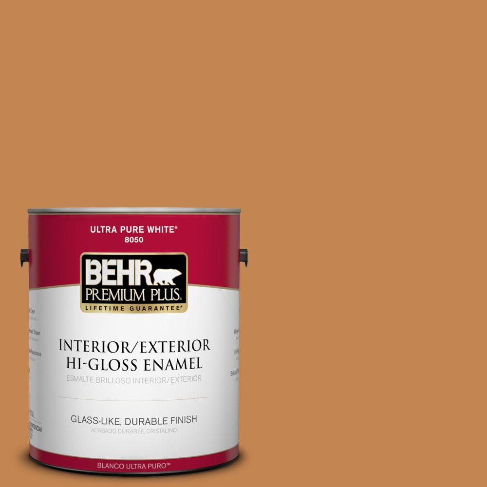 1-gal. #280D-6 Mulling Spice Hi-Gloss Enamel Interior/Exterior Paint
