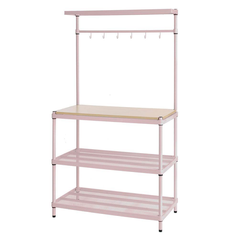 Home Depot Design Ideas:  Design Ideas MeshWorks 4-Shelf Metal Blush Pink