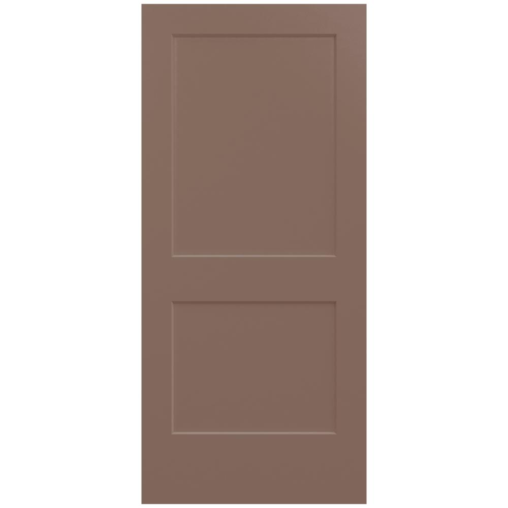 36 in. x 80 in. Monroe Medium Chocolate Painted Smooth Solid