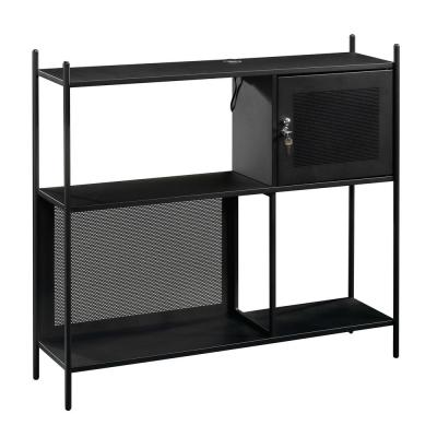 Boulevard Cafe Black Storage Cabinet with USB Ports