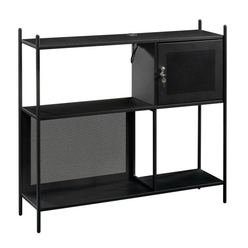 Boulevard Cafe Black Storage Cabinet with USB Ports