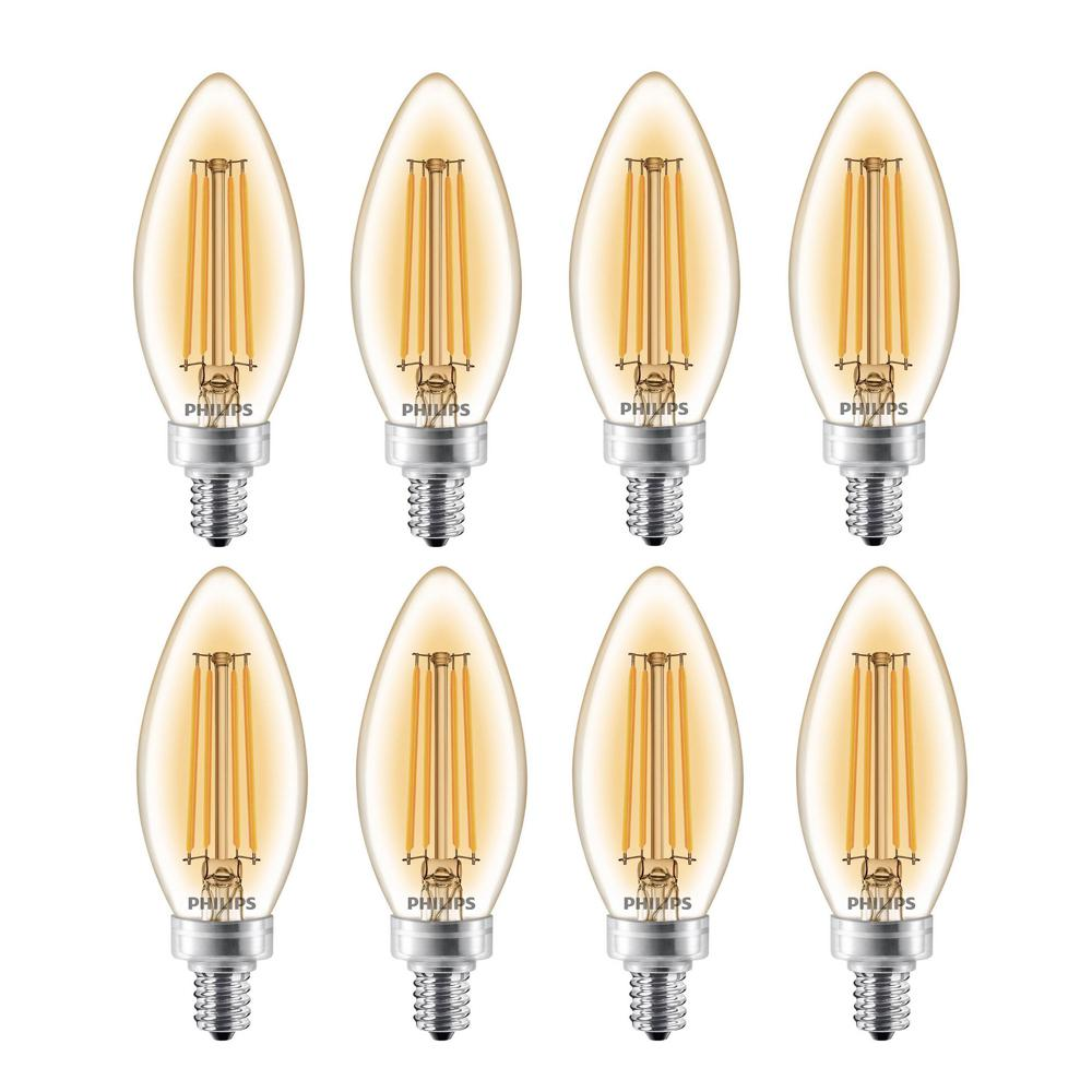 Philips LED 4.5 Watt Dimmable Decorative Blunt Tip Bulb w/Candelabra Base 4 pk Lighting Home, Furniture & DIY
