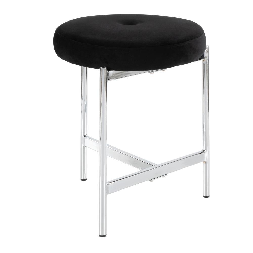 Phenomenal Taymor 14 In X 15 75 In Folding Vanity Stool In Chrome 02 Inzonedesignstudio Interior Chair Design Inzonedesignstudiocom