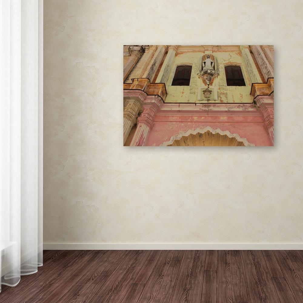 "12 in. x 19 in. ""Church in Havana"" by Masters Fine Art Printed Canvas Wall Art"
