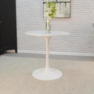 Miraculous 30 In Enzo White Round Marble Top Dining Table Ocoug Best Dining Table And Chair Ideas Images Ocougorg
