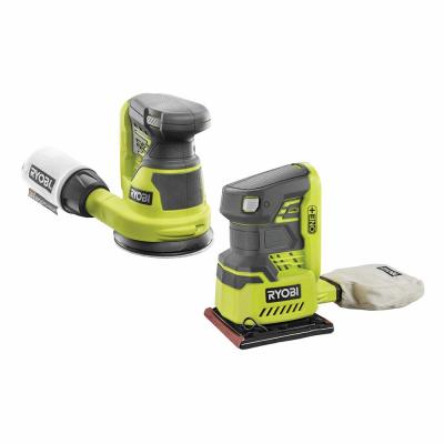 18-Volt ONE+ Lithium-Ion Cordless 5 in. Random Orbit Sander and 1/4 Sheet Sander with Dust Bag (Tools Only)