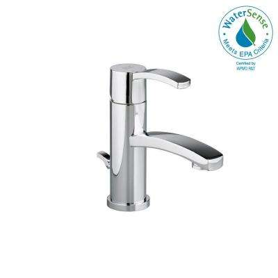 Berwick Monoblock Single Hole Single Handle Low-Arc Bathroom Faucet with Speed Connect Drain in Polished Chrome