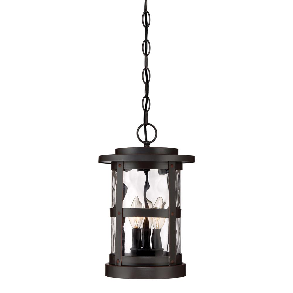 Designers Fountain Terraze 3-Light Satin Bronze Outdoor Hanging Lantern