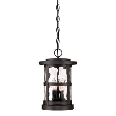 Terraze 3-Light Satin Bronze Outdoor Hanging Lantern
