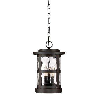 Terraza 3-Light Satin Bronze Outdoor Hanging Lantern