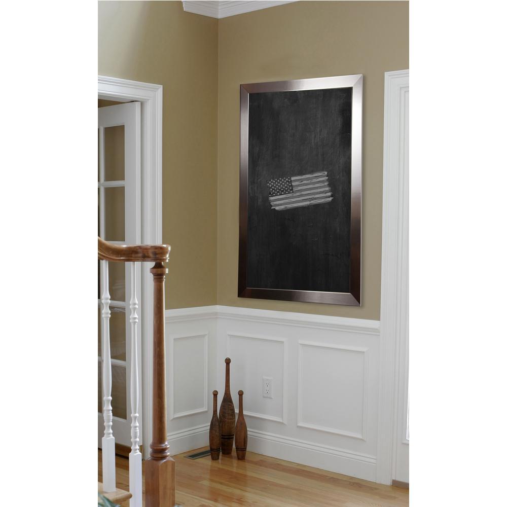 100 in. x 28 in. Silver Petite Blackboard/Chalkboard