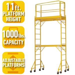 2-Story Rolling Scaffold Tower with 1000 lb. Load Capacity
