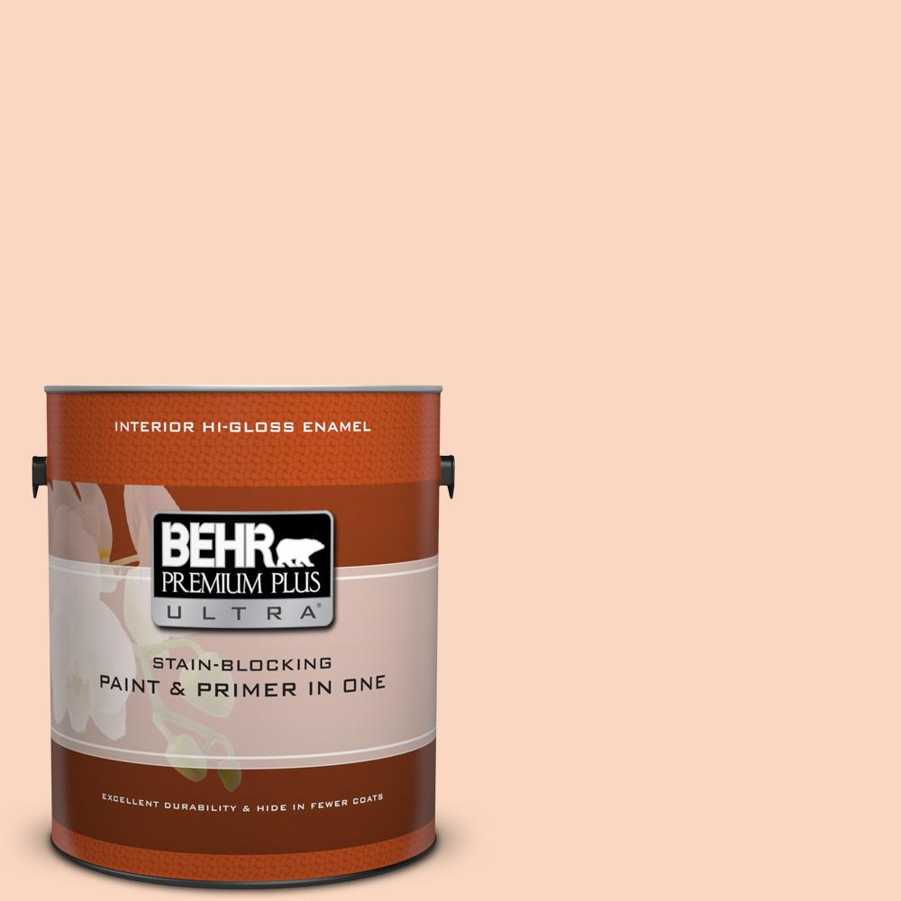 1 gal. #240A-2 Sunkissed Peach Hi-Gloss Enamel Interior Paint