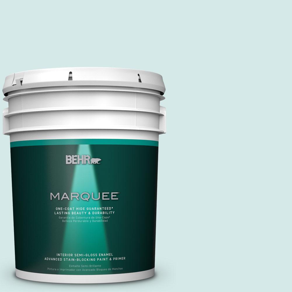 5 gal. #T14-5 Sky Blue Semi-Gloss Enamel Interior Paint