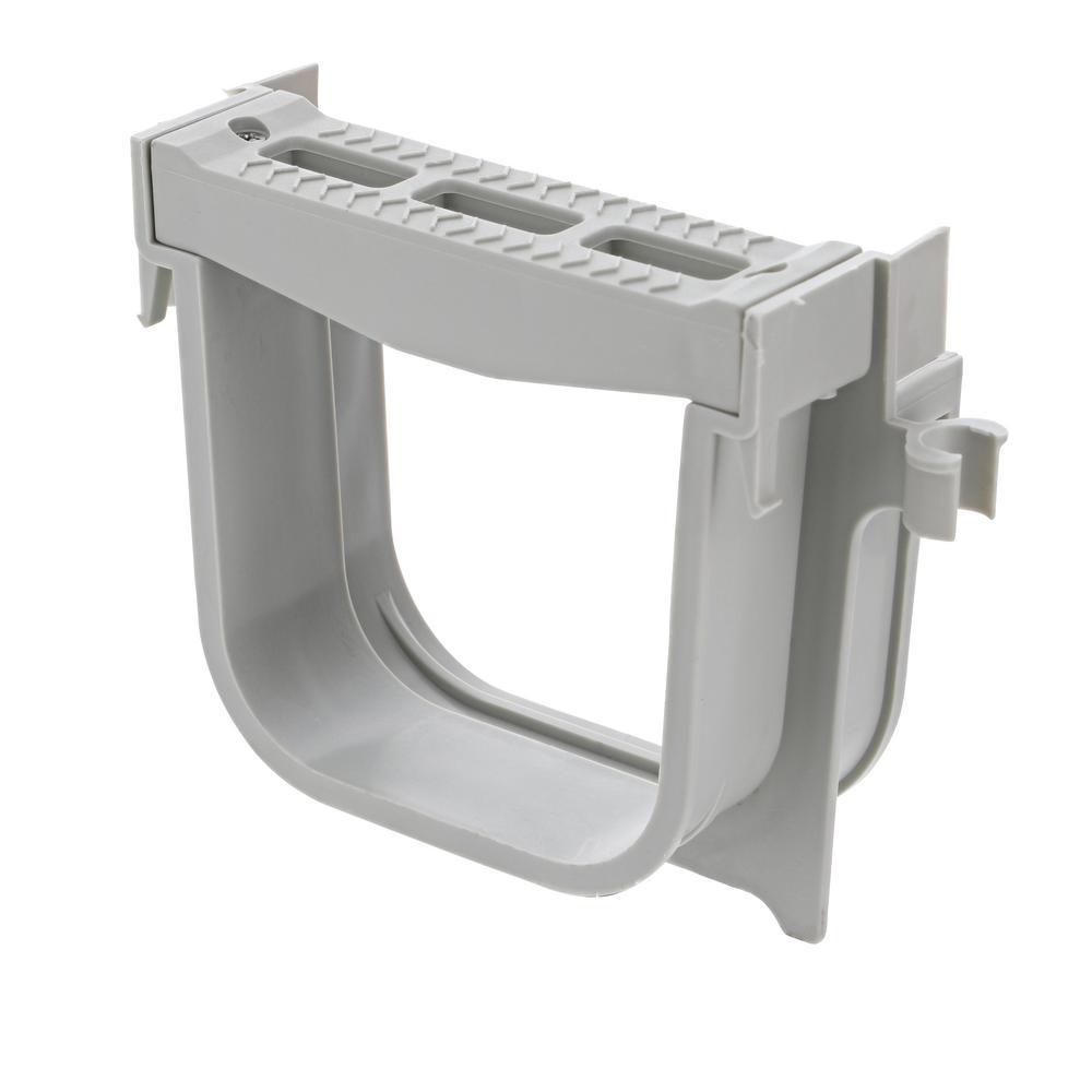 5 in. Pro Series Channel Drain 6° Bend Qwik-Turn Deep Profile Radius Coupling, Gray