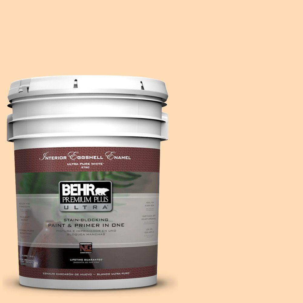 BEHR Premium Plus Ultra 5-gal. #290B-4 Feather Plume Eggshell Enamel Interior Paint