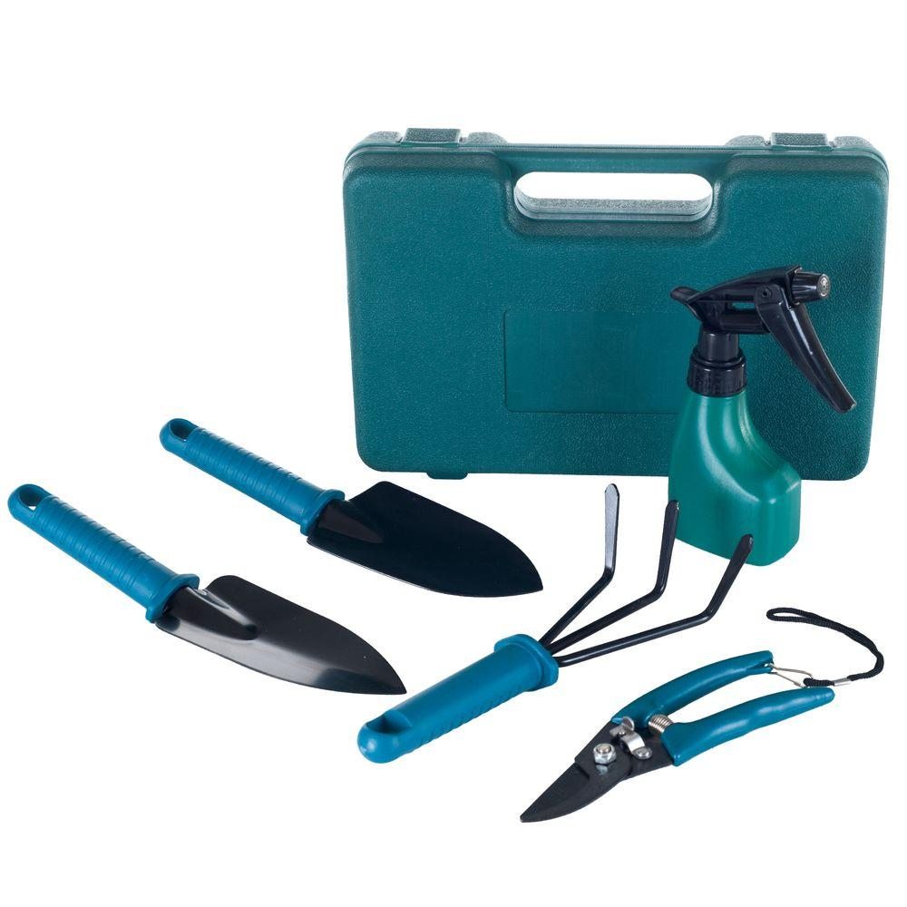 Stalwart Garden Tool Set with Carrying Case (6-Piece)