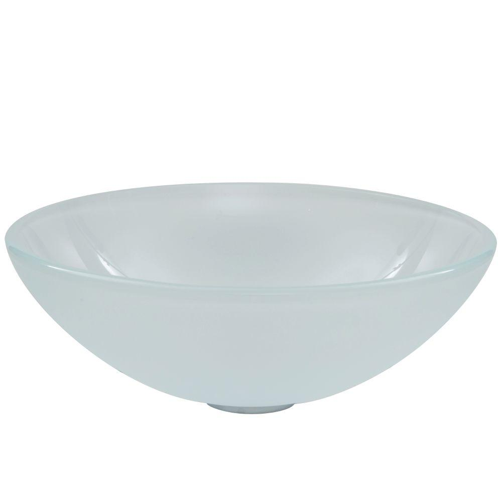 Charmant VIGO Glass Vessel Sink In White Frost