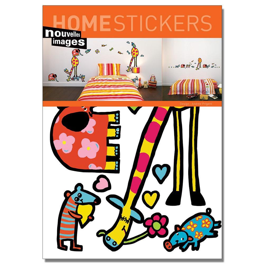 Multicolor Animals Home Sticker