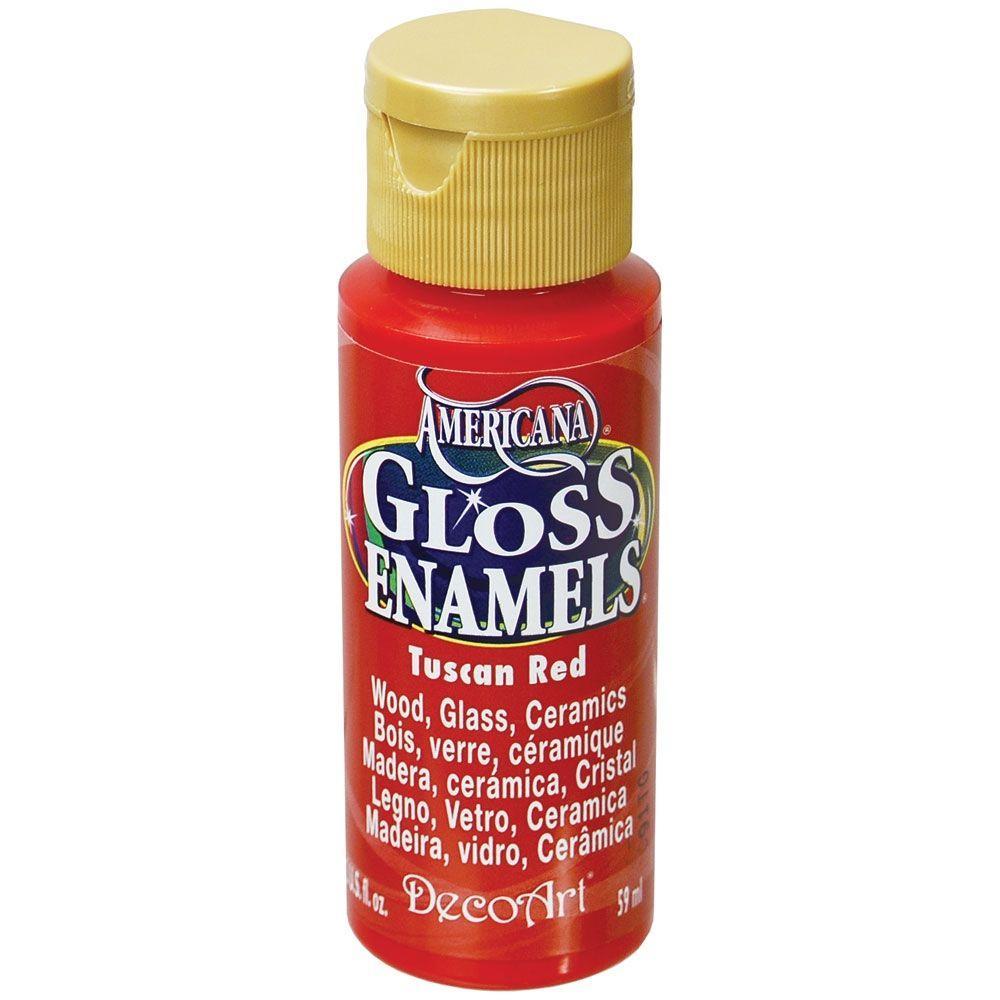 2 oz. Tuscan Red Gloss Enamel Paint