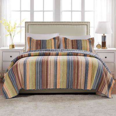 Katy 2-Piece Multicolored Twin Quilt Set