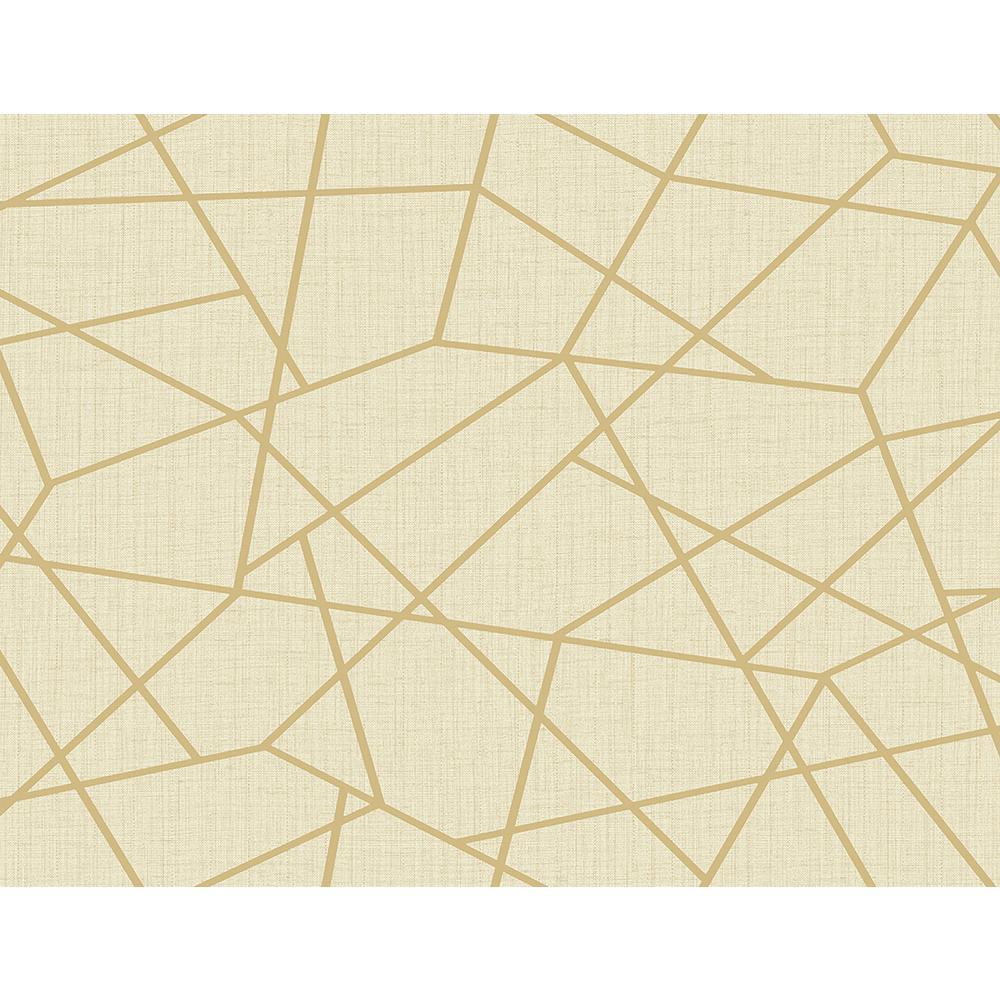 8 in. x 10 in. Heath Gold Geometric Linen Sample