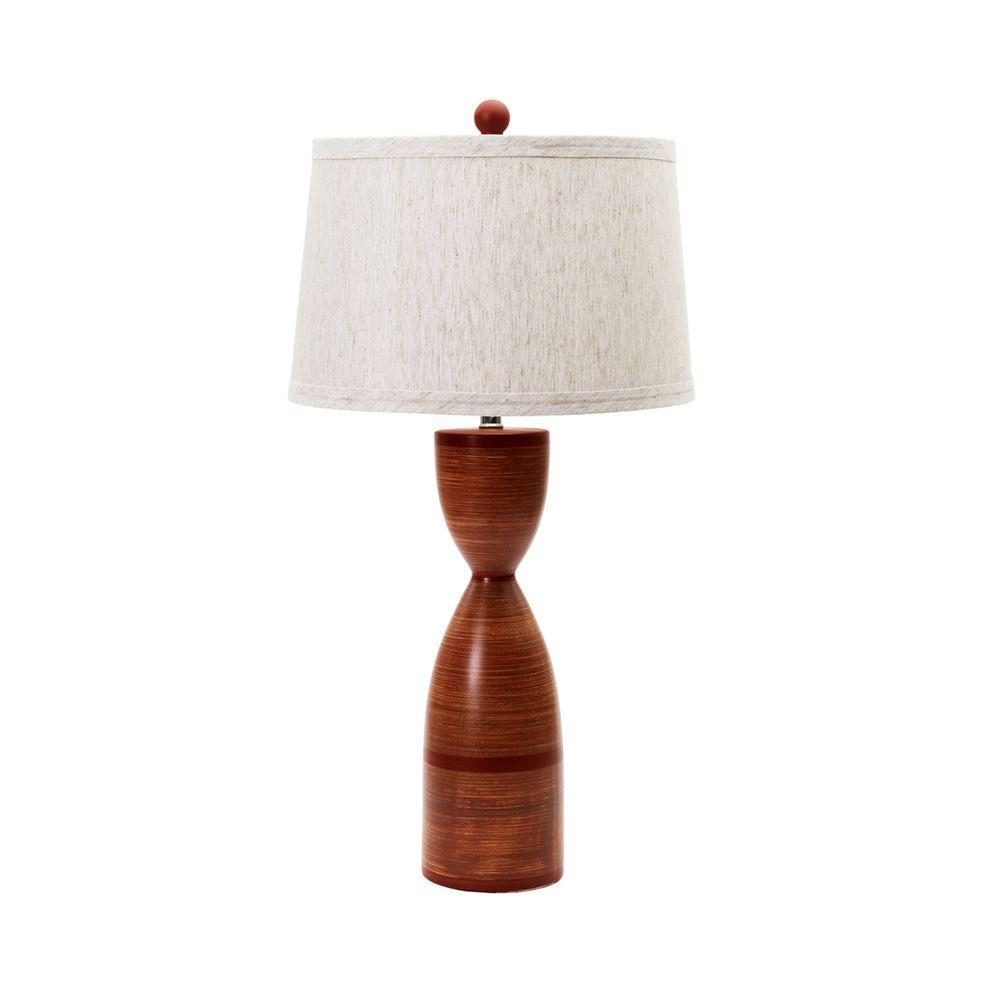 Totem Red Ceramic Table Lamp
