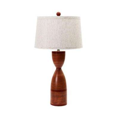 28 in. Totem Red Ceramic Table Lamp
