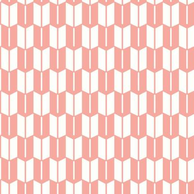 Art in Chaos Collection Arrow in Bleached Coral Premium Matte Wallpaper