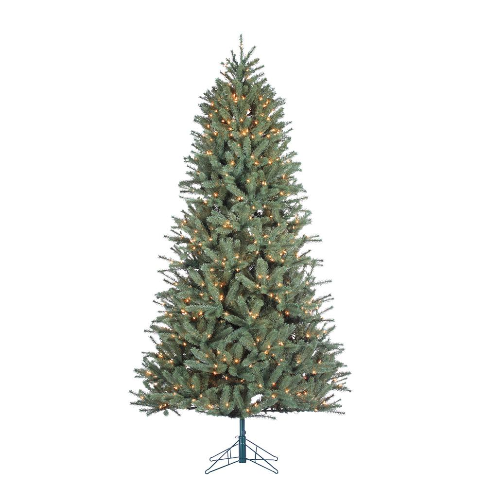 7.5 ft. Indoor Pre-Lit Natural Cut Toledo Pine Artificial Christmas Tree
