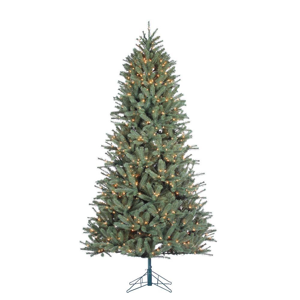 STERLING 7.5 ft. Indoor Pre-Lit Natural Cut Toledo Pine Artificial ...