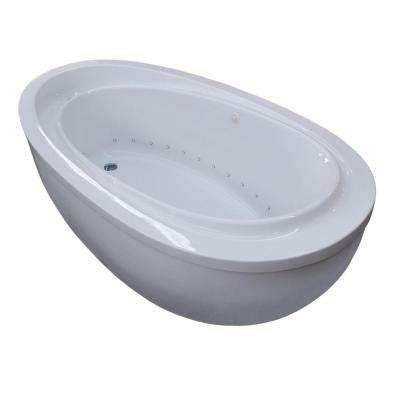 Mystic 5.9 ft. Jetted Air Bath Tub with Reversible Drain in White