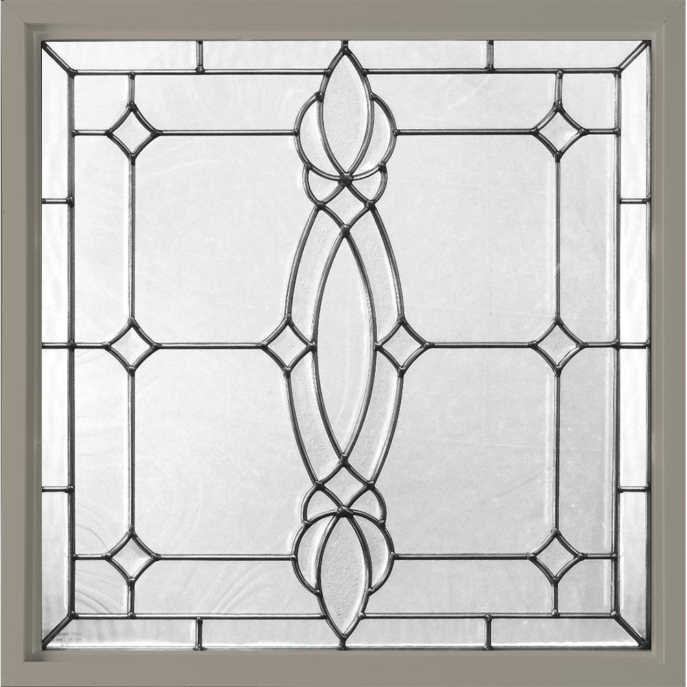 Hy-Lite 25 in. x 25 in. Decorative Glass Fixed Vinyl Glass Block ...