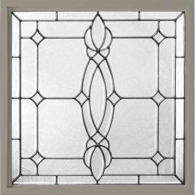 25 in. x 25 in. Decorative Glass Fixed Vinyl Window - Driftwood