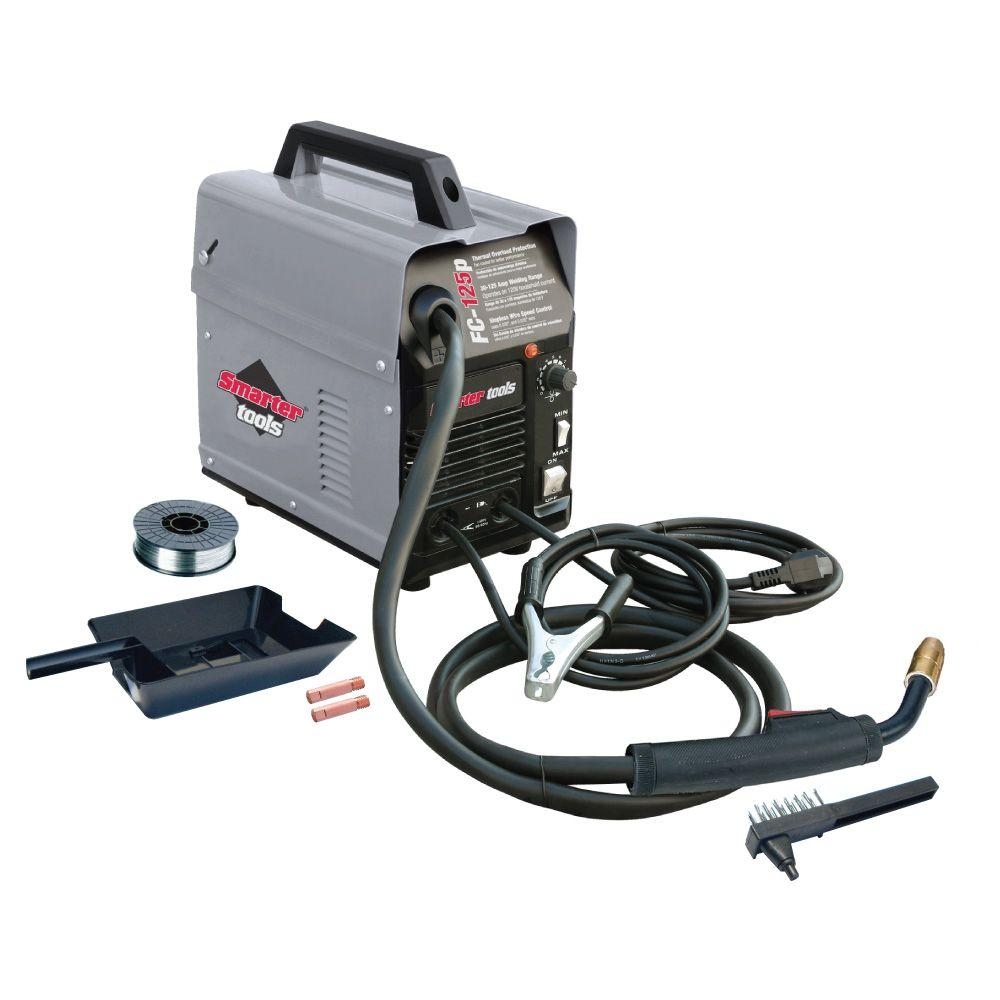 Smarter Tools 125 Amp Flux-Cored Wire-Feed Welder-FC-125P - The Home ...