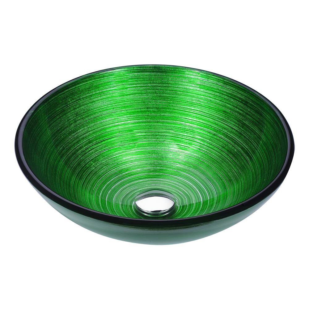 Delicieux ANZZI Posh Series Deco Glass Vessel Sink In Brushed Green