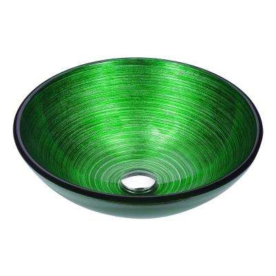 Posh Series Deco-Glass Vessel Sink in Brushed Green