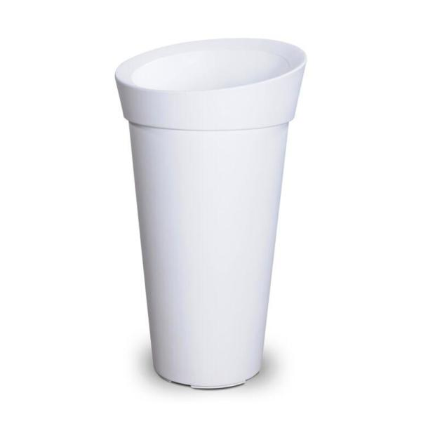 Self-Watering Creston White Tall Polyethylene Planter