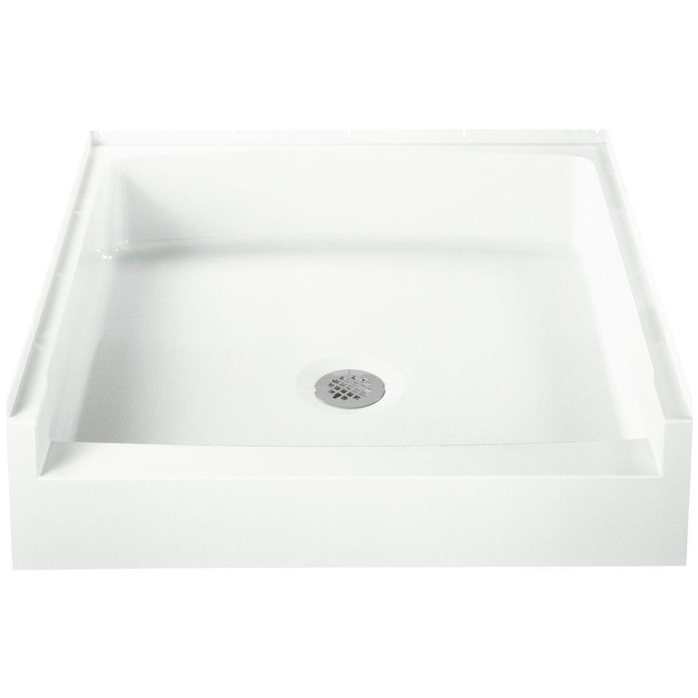 STERLING Advantage 32 in. x 34 in. Single Threshold Shower Base in White