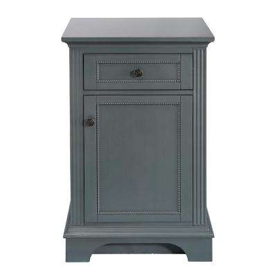 H Floor Cabinet In Charcoal Grey