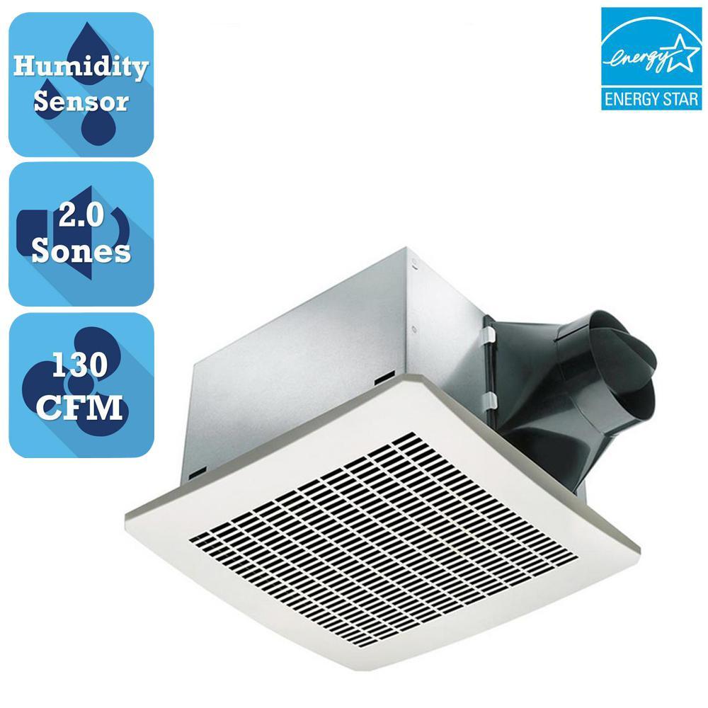 Signature Series 130 CFM Humidity Sensing Ceiling Bathroom Exhaust Fan