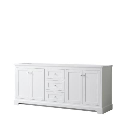 Avery 79 in. W x 21.75 in. D Bathroom Vanity Cabinet Only in White