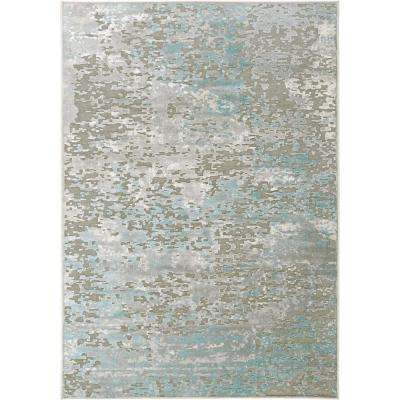Infinity Dark Gray/Blue 8 ft. x 10 ft. Indoor Area Rug