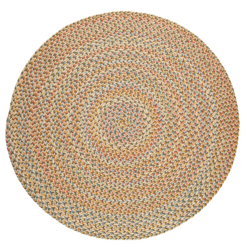 Rhody Rug Revere Earth Beige 4 ft x 4 ft Round Indoor