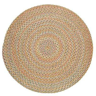 Revere Earth Beige 4 ft. x 4 ft. Round Indoor/Outdoor Braided Area Rug