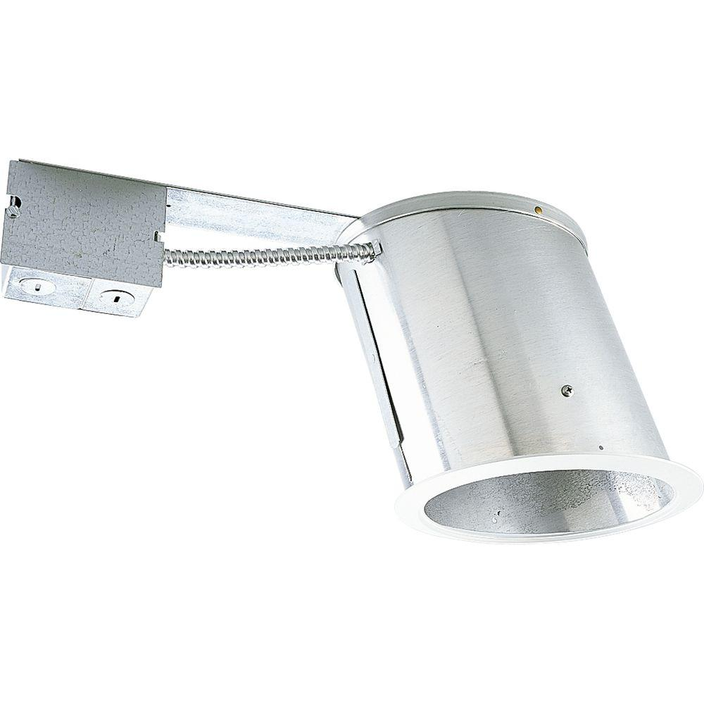Progress Lighting 6 in. Remodel Sloped Ceiling Recessed Metallic Housing IC  sc 1 st  The Home Depot & Progress Lighting 6 in. Remodel Sloped Ceiling Recessed Metallic ... azcodes.com