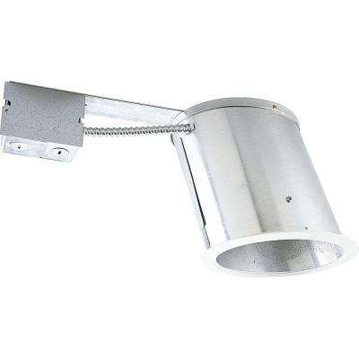 6 in. Remodel Sloped Ceiling Recessed Metallic Housing, IC